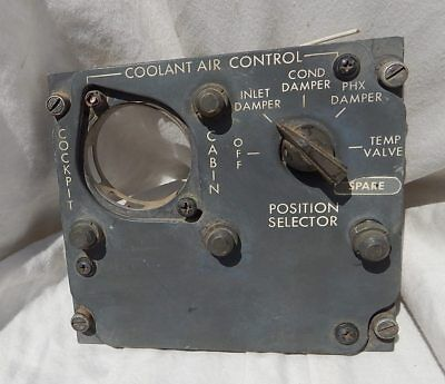 727  Airliner Flight Engineer's Coolant Air Control Panel Console Box Assembly