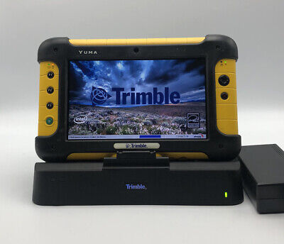 Trimble Yuma Tablet Rugged Handheld Computer Gps Docking Station Charger No Os