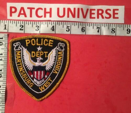 VINTAGE MARTINSBURG WEST VIRGINIA  POLICE SHOULDER PATCH  T014