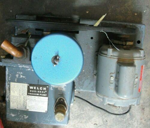 Welch Duo-seal Vacuum Pump 1402 W/dayton ¾ Hp Motor 5k459b 115/230 V Tested Good