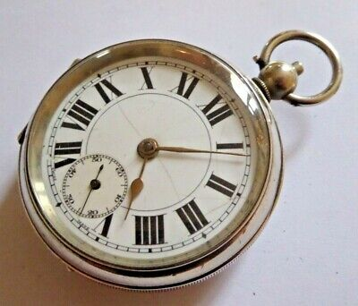 Gent's Antique Open Face Key Operated Swiss Made Mechanical Pocket Watch