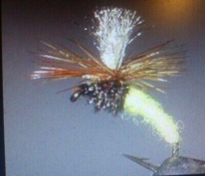 Fliegentom Trockenfliege 3 Stück No hackle Light Marchbrown