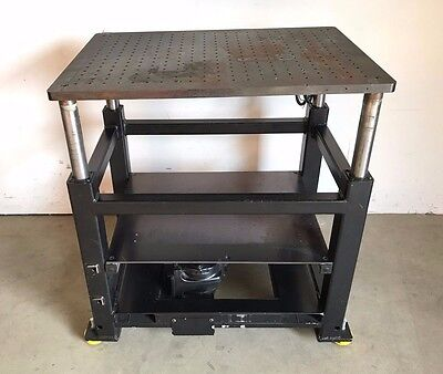 """Industrial Syncrogear Electric Motorized Lift Table Station / Stage, 35""""x26"""""""