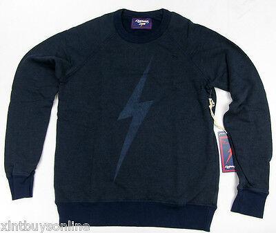 Lightning Bolt Long Sleeve Crew Neck Sweater Big Bolt Black Iris  Surf Bolt ()