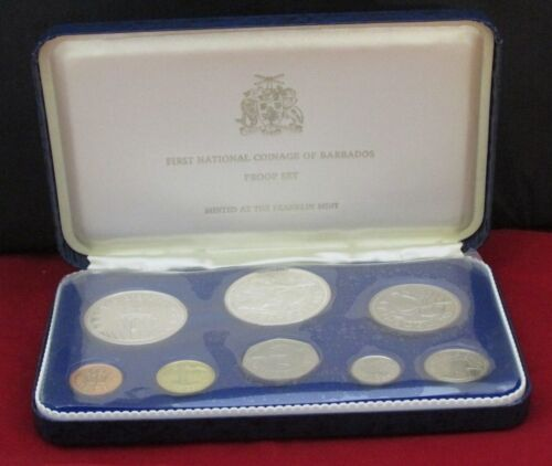 1973 First National Coinage of Barbados Proof Set - Franklin Mint
