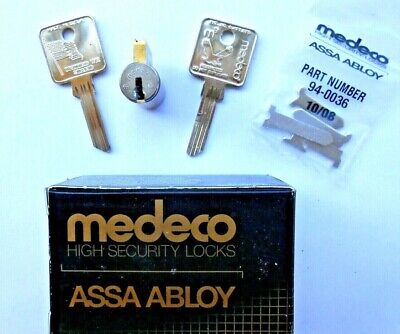 New Medeco 20t200s1 Sub Assembled Cylinder  Satin Chrome 2 Key Blanks 5 Cam