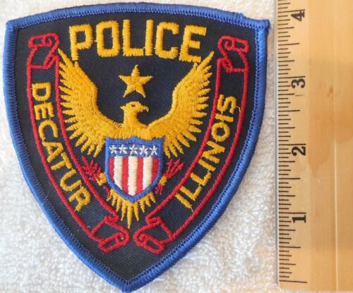 DECATUR ILLINOIS POLICE PATCH (SHERIFF, HIGHWAY PATROL, STATE POLICE)