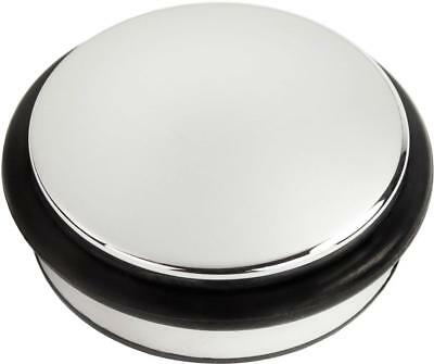 Andrew James Door Chrome Stop with Rubber Ring Heavy Duty Non-Slip 1.2kg
