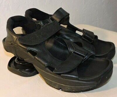 Z Coil Sidewinder Sandals Pain Relief Black Orthotic Walking Shoes Womens Size 9