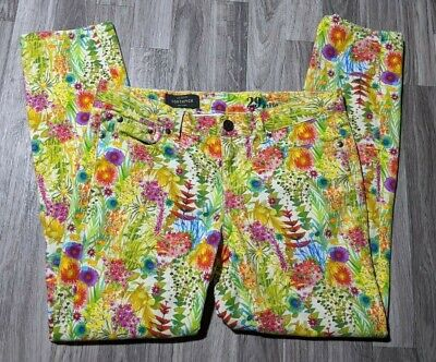 J Crew Womens Size 29 Liberty Toothpick Colorful Floral Ankle Pants