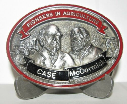 Case & McCormick CIH Pioneers in Agriculture Pewter Belt Buckle 1990 Ltd Ed IH