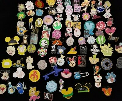 DISNEY TRADING PINS 50 LOT NO DOUBLES HIDDEN MICKEY LIMITED EDITION FREE SHIP