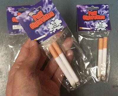 3 Packs Fake Funny Realistic Looking Puff Cigarettes Prank Joke Gag Gift - Puff Cigarettes