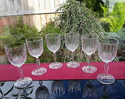 6 EXCEPTIONAL CRYSTAL SHOT DRAM GLASSES CUT VINTAGE GIN VODKA LIQUER