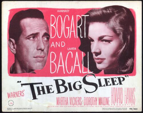 THE BIG SLEEP (1946) Original Title Lobby Card