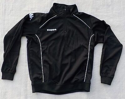 Kappa Bacoli 30154Q0 005 Half Zip Sweatshirt Trainingstop Jacke XL XXL Schwarz Half Zip Sweatshirt