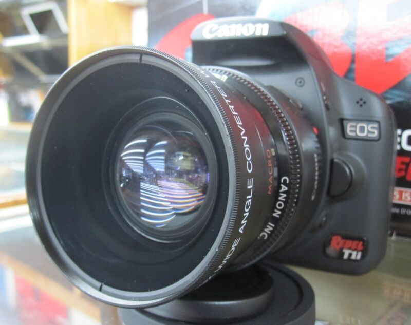 Wide Angle Macro Lens for Canon Eos Digital Rebel t6 T5 sl1 XTi w/18-55 STM 40mm