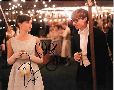 Signed Stephen Hawking Theory Of Everything Eddie Redmayne Felicity Jones