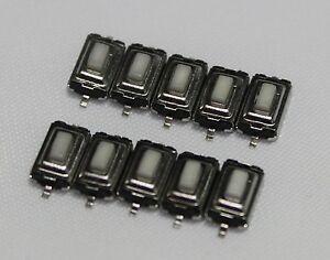 10x SMD Taster 3x6x2.5mm Weiß Subminiatur Mikrotaster Drucktaster KFZ Auto Key