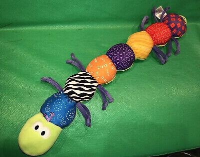 """LAMAZE Baby Inchworm Caterpillar Infant Plush Toy 23"""" Crinkle Sensory Measure"""