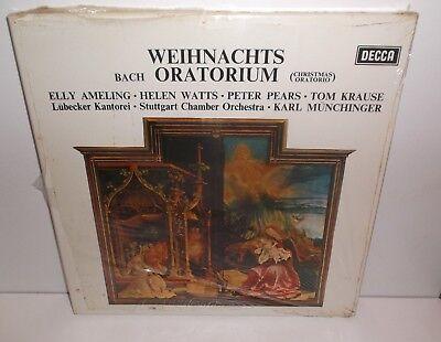 SET 346/8 Bach Christmas Oratorio Stuttgart Chamber Munchinger New Sealed 3LP
