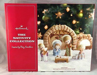Hallmark Porcelain Nativity Collection Mary Hamilton 6 Piece Set Christmas NEW
