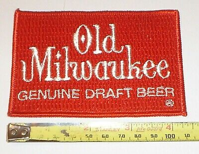 Vintage NOS Old Milwaukee Genuine Draft Beer Embroidered Patch (new old stock)