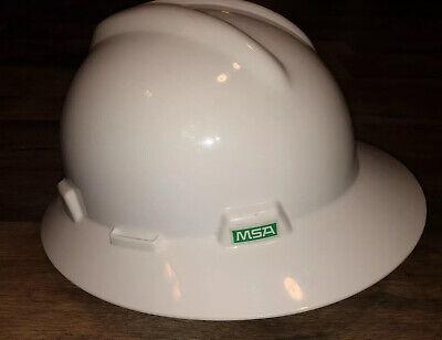 MSA V-Gard Full Brim Hard Hat with Fas-Trac Ratchet Suspension, White