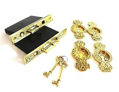 Victorian Pocket Door Hardware Double Doors Locks for Antique Style Locks For Pocket Doors
