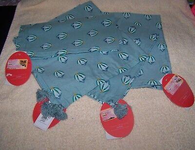 Teal Napkins (OPAL HOUSE  (4ct.)  Napkins  20X20 Blue Green Napkins w/ tassels  Brand)