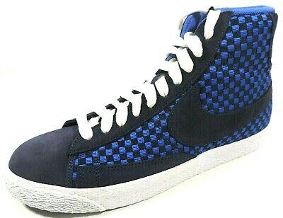 Nike Mens Shoes Blazer Mid Woven Basketball Retro Blue 555093 400/600 Rare