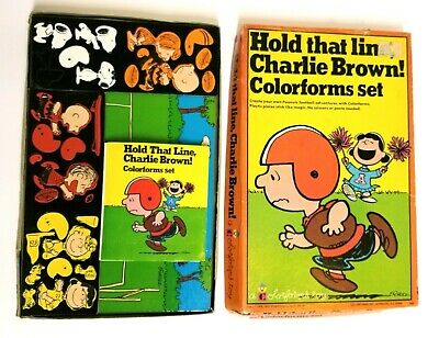 1966 Hold that line Charlie Brown Colorforms w/ Booklet - Very RARE Snoopy