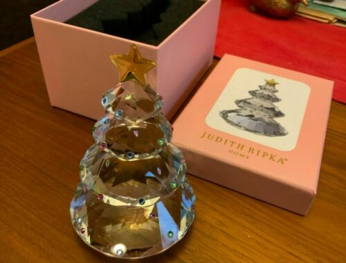 NIB - JUDITH RIPKA Home Gemstone Pattern Crystal Christmas Tree Signed