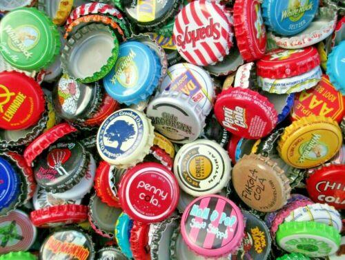 100 Soda and Root Beer Bottle Caps (( No Dents )) Good Mixture of Soda Caps