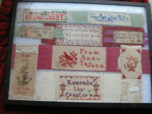 Lot of 1850's Paper Punch Sampler Bookmarks NICE!