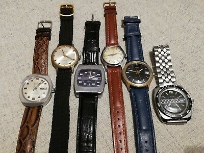 Lot of 6 watches. Buler, Timex,...