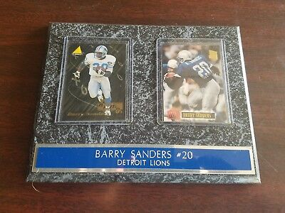 Barry Sanders Football Cards In 9x7 Wall Plaque (Barry Sanders Wall)