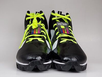 - Under Armour UA Crusher RM Black Football Lacrosse Cleats 1286599-001 Size 13