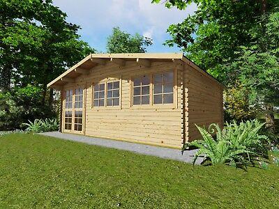 Gartenhaus Mit Fußboden 3x3m ~ Gartenhaus blockhaus koblenz  cm mm blockbohlen sol