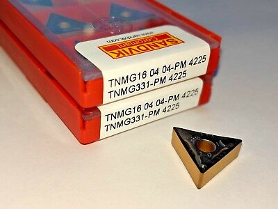 Sandvik Tnmg 331-pm Tnmg 160404-pm Grade 4225 Turning Carbide Inserts 10 Pcs