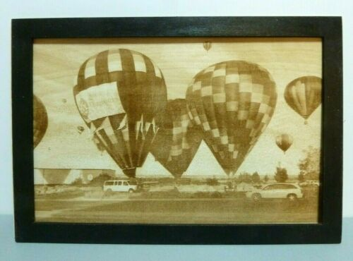Balloon+Fiesta+Scene+Wood+Engraved+Plaque%2CWall+Art+%2CWall+Hanging%2CDisplay