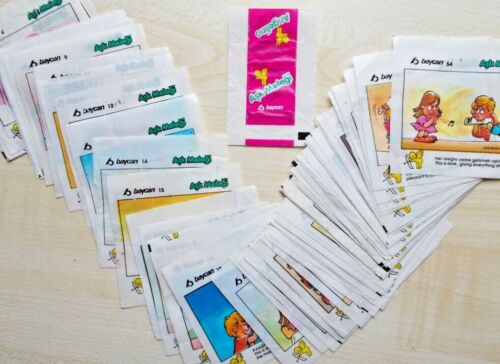 Full Set ASK MELEGI Love is.. Baycan  Bubble Gum Inserts Wrappers 54pcs+1wrapper