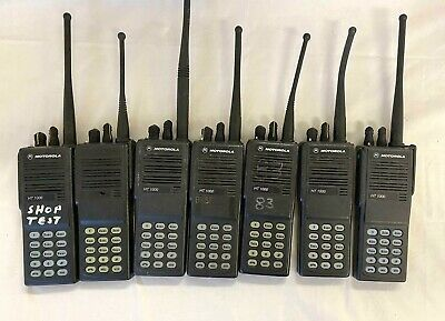 Lot Of 7 - Motorola Ht1000 H01kdc9aa3dn Handie Talkie Fm Radio