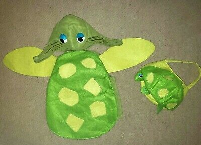 POTTERY BARN KIDS Warm SEA TURTLE Halloween COSTUME w/TREAT BAG sz 12-24M ec