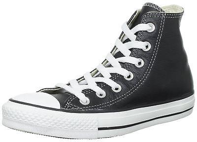 Converse Chuck Taylor All Star Noir Blanc Hi Unisex Cuir Baskets ()