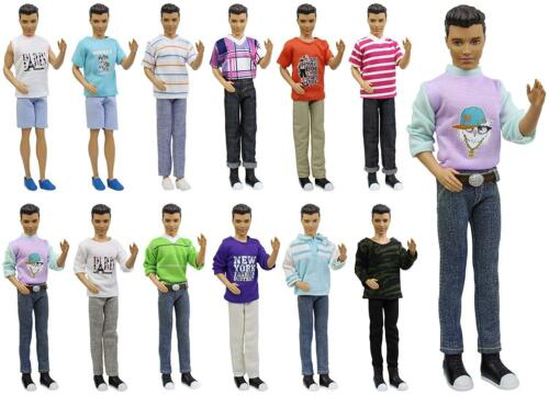 Купить ZITA ELEMENT - 5x Fashion Casual Wear Clothes Shirt Outfit for Barbie's Boy Friend 12 Ken Doll