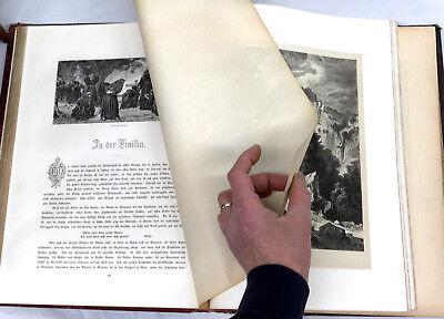 1876 ITALIEN - ALPS TO ETNA TRAVEL Antiquarian German Book ADOLF CLOSS WOODCUTS