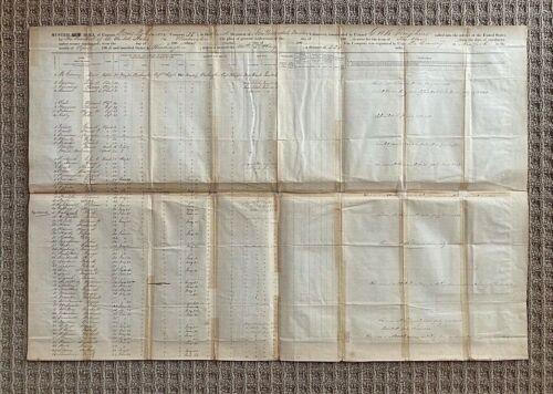 ORIGINAL CIVIL WAR - 82nd NEW YORK VOLUNTEER INFANTRY REGIMENT MUSTER ROLL c1861
