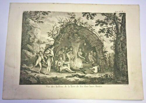 TIERRA DEL FUEGO 1780 JAMES COOK LARGE ANTIQUE ENGRAVED VIEW 18TH CENTURY