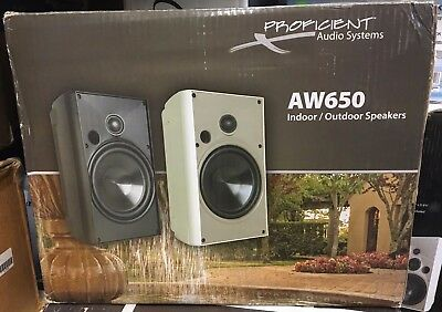 Proficient Audio Systems Aw650 6 5 Inch Indoor Outdoor Speakers